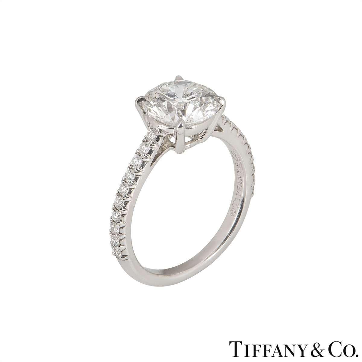 Tiffany & Co. Platinum Diamond Novo Ring 1.72ct G/VS1 XXX